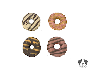 4er Pack-Donuts